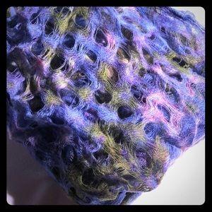 Scarf periwinkle/olive/pink/purple